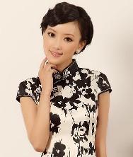 黑狐 华丽泰丝 巧之韵2012春夏新款时尚改良旗袍