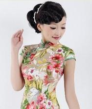 春季复古时尚改良旗袍 魅影春华 巧之韵
