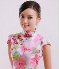 迎春 华丽泰丝 巧之韵2012新款时尚改良旗袍