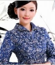 巧之韵 新款民族风春季女装 中式翻领改良春装修身外套