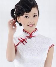 巧之韵 玉兰殇提花缎 春夏时尚改良复古旗袍(绿色,红色边两款)
