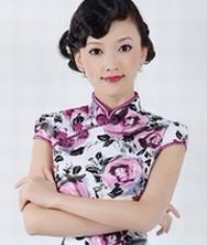 巧之韵 烂漫蔷薇 时尚改良复古贡缎旗袍裙