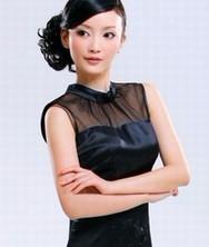 巧之韵 重磅真丝. 廊桥遗梦 夏季新款女装黑色改良旗袍裙