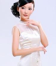 巧之韵 重磅真丝. 佳人曲 夏季新款女装白色改良旗袍裙