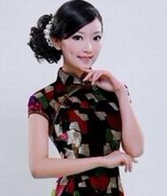 巧之韵 年华 100%加厚真丝丝绒 时尚改良旗袍