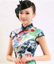 巧之韵 陌香 时尚改良复古短款夏季旗袍 夏装新款