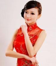 巧之韵 钉珠刺绣 红色长款新娘旗袍礼服 新款结婚敬酒服新娘装