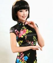 巧之韵 优雅转身的模样 丝质时尚改良旗袍夏装