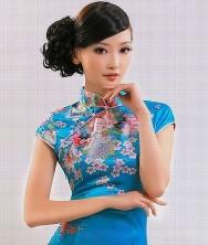 巧之韵 落花随 日本软缎 新款夏装时尚旗袍裙 改良短款旗袍