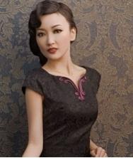 巧之韵时尚经典高贵旗袍裙 改良民族风短款旗袍裙