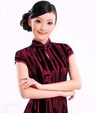巧之韵 流苏年华 进口丝绒新款旗袍 时尚改良长款豪华旗袍