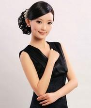巧之韵 花蕊 黑白2色 真丝时尚夏装旗袍裙 新款改良短款旗袍