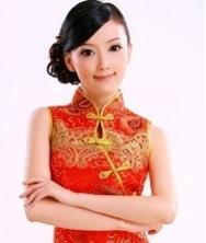 巧之韵 豪华钉珠长款鱼尾礼服 红色时尚复古结婚旗袍 新娘装敬酒服