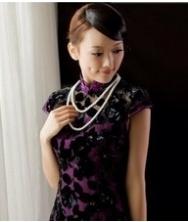 巧之韵 真丝丝绒.似水流年 新款改良旗袍裙 中式复古旗袍