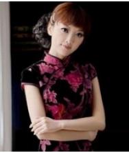 巧之韵 真丝丝绒.秋叶落 时尚中式短款旗袍裙 改良复古旗袍