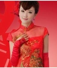 巧之韵 唯美新娘 水晶纱 旗袍结婚礼服 斗篷式披肩