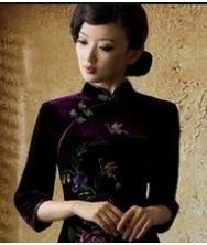 巧之韵 爱唯一 秋冬长袖丝绒旗袍 时尚新款改良秋装