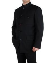 巧之韵 立领中山装外套套装 立领修身中山装套装 男士礼服套装