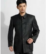 巧之韵主席款中山装套装 进口纯羊毛民族装 中国风男士中山装 中式礼服装