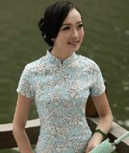 巧之韵 芳香袭人经典时尚棉麻旗袍 修身改良旗袍裙