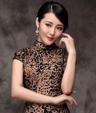 巧之韵 复活 中式新古典时尚豹纹旗袍  高端真丝空花绒旗袍