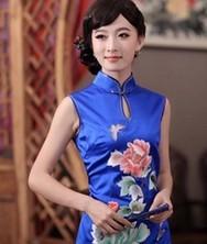 巧之韵 蜀丹绣 尊贵典雅手推绣重磅真丝旗袍 中式新古典传统旗袍