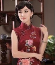 巧之韵 她信 重磅真丝复古时尚旗袍 蜀绣手工刺绣旗袍