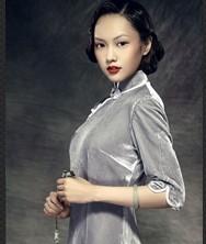 巧之韵 小倩.中式新古典真丝绒传统影视时尚高端长旗袍