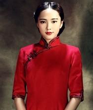 巧之韵 闻说 中式新古典羊毛呢旗袍(三色)花未露毛呢旗袍裙新款 长款七分五分袖复古精品旗袍