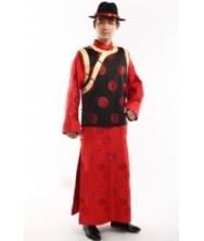 巧之韵 红烛 中式唐装 传统长袍马褂 男 古装长衫结婚新郎装喜服  男士结婚礼服新郎唐装中式结婚礼服