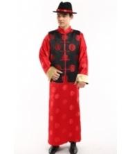 巧之韵 圆福 男士传统长袍马褂  中式唐装长衫结婚新郎装喜服  男士结婚礼服新郎唐装中式结婚礼服