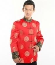 巧之韵 中国风 高档新郎唐装 男士盘扣修身中式民族服装 时尚中式唐装