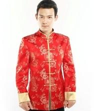 巧之韵 时尚中国风 男士新郎唐装男士盘扣修身中式民族服装