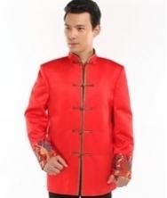 巧之韵 中国风男士盘扣修身中式民族服装 时尚中式唐装