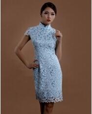 巧之韵 少司命.中式奢华水溶蕾丝旗袍 复古改良蕾丝旗袍