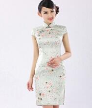 名流旗袍 流光飞舞 中式新时尚旗袍 桑蚕丝改良日常修身旗袍裙