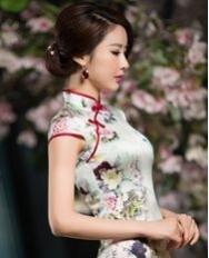 名流旗袍 春蕊香 重磅真丝旗袍 新款改良时尚旗袍连衣裙 复古旗袍裙