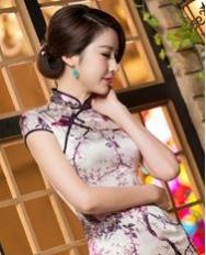 名流旗袍 雪枝梅雀 旗袍裙 新款高档重磅真丝桑蚕丝旗袍 复古连衣裙
