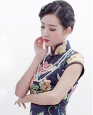 巧之韵 花想容黑 新中式中长款旗袍 高雅旗袍 手工旗袍