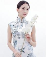 巧之韵 花语 新中式长款旗袍 三道边高雅旗袍