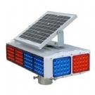 太阳能爆闪灯 太阳能交通信号灯 红蓝四面爆闪灯 道路口频闪灯