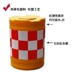 圆形防撞桶 工程塑料隔离桶 隔离墩 隔离栏 防撞墩
