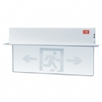 新国标嵌顶式玻璃标志灯 安全出口指示灯 透明标志灯