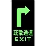 夜光地贴安全出口 自发光标志牌 夜光牌  荧光标牌 右向