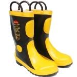 防护靴 消防员灭火防护胶靴 阻燃消防靴 带钢板消防战斗靴