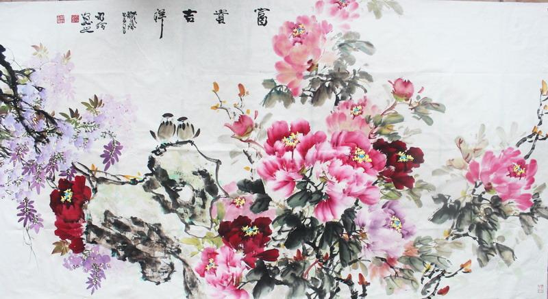 司玲牡丹画