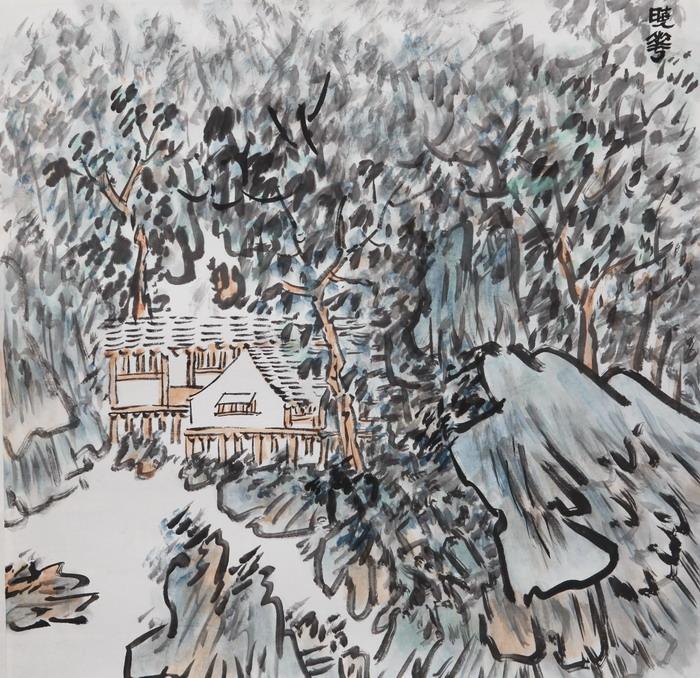李晓华山水画