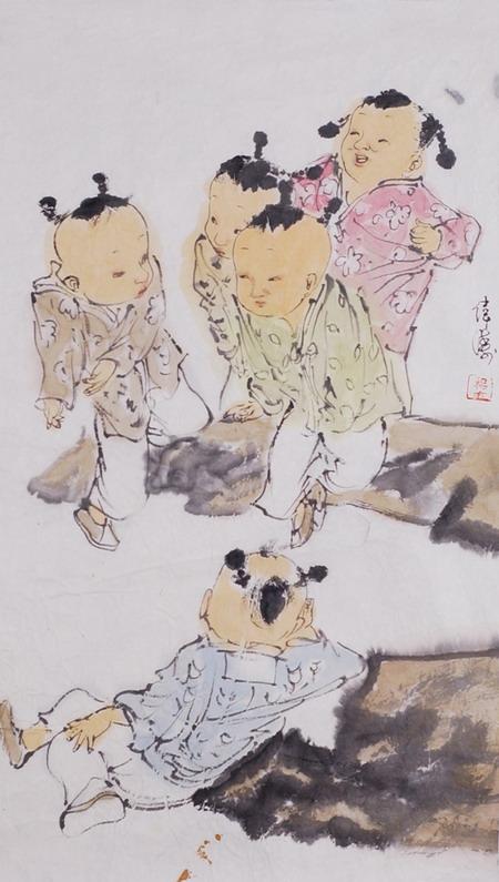 杨伟涛人物画