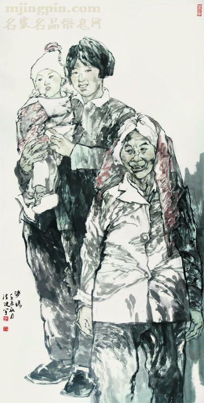 王清健人物画