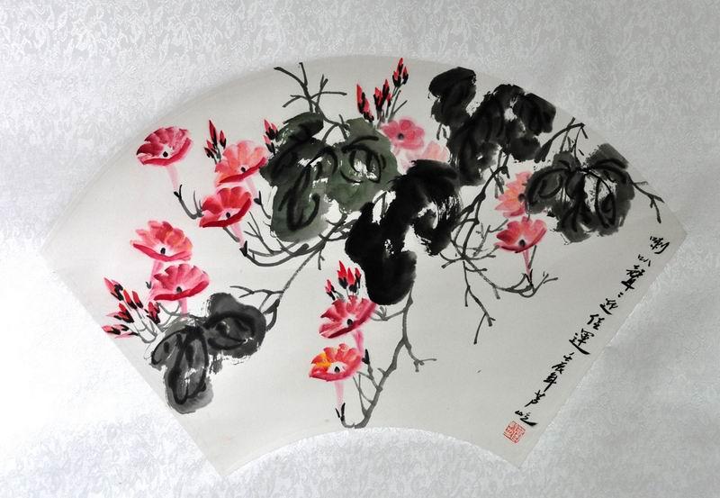 芦屹花鸟画